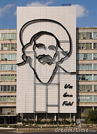 Fidel Castro Monument in Plaza de la Revolucion. Editorial Image