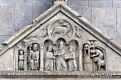 Fidenza (Parma) - Cathedral, bas-relief