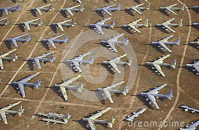 Field of B-52 Aircraft Editorial Photo