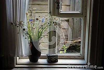 Field flowers in a jug