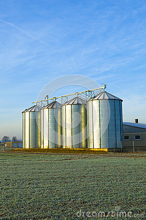 Free Field In Harvest With Silo Stock Photography - 26945082