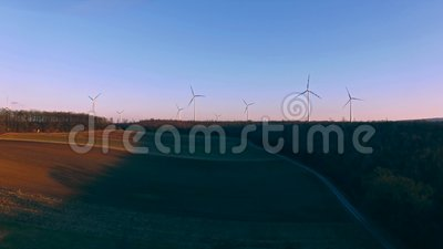 field turbines wind yellow lager videofilmer