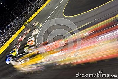 Field through turn 4 NASCAR All-Star Challenge Editorial Image