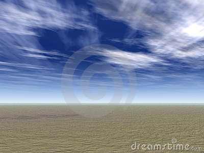 Field with Wispy Clouds
