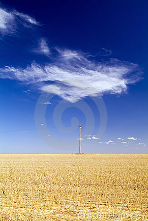 Free Field With Pole Stock Image - 15246611