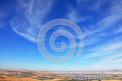Fields from Mount Barkan