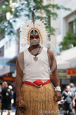 Fierce Torres Strait Islander Editorial Photography