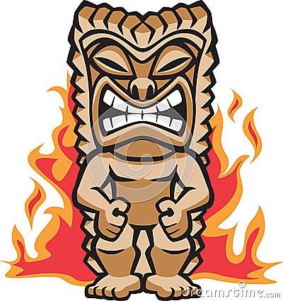Free Fierce Warrior Tiki Stock Photo - 6836030