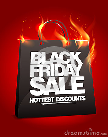 Fiery black friday sale design.