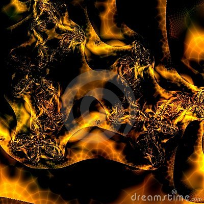Fiery Gold and Black Abstract background pattern design or wallpaper