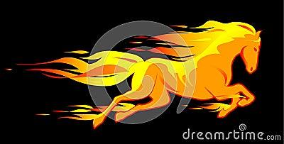 Fiery horse