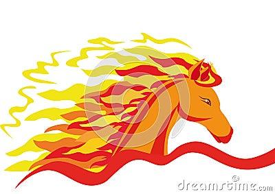 A fiery horse
