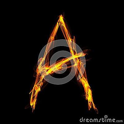 Fiery letter A