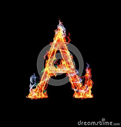 Free Fiery Magic Font - A Stock Photos - 12203143