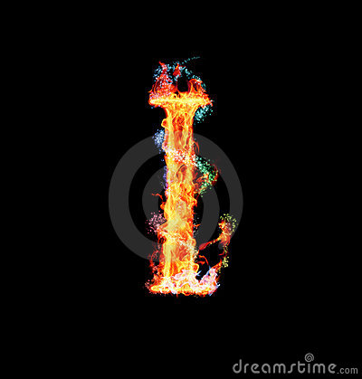Free Fiery Magic Font - I Stock Photos - 12203193