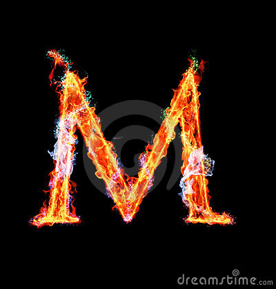 Free Fiery Magic Font - M Stock Image - 12203221