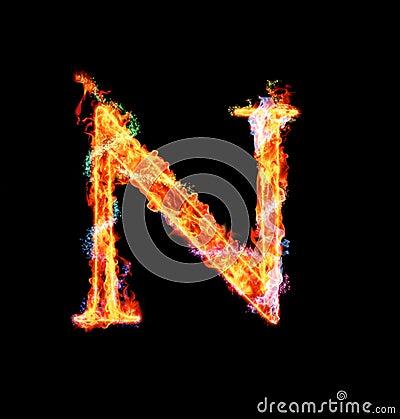 Free Fiery Magic Font - N Stock Photo - 12203230