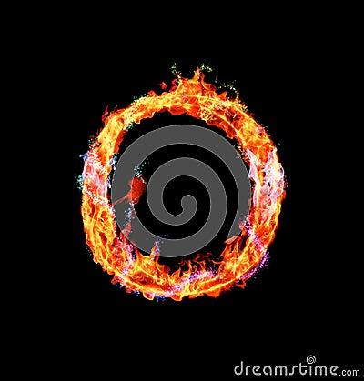 Free Fiery Magic Font - O Royalty Free Stock Photo - 12203235