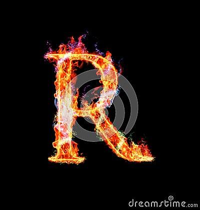 Free Fiery Magic Font - R Stock Photos - 12203253