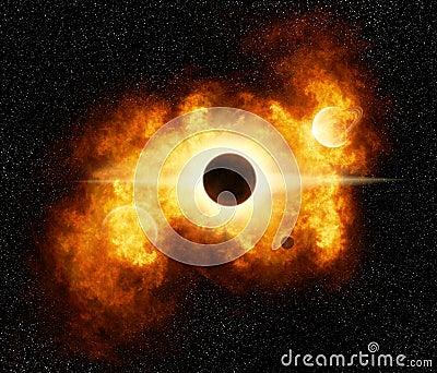 Fiery Nebula Explosion