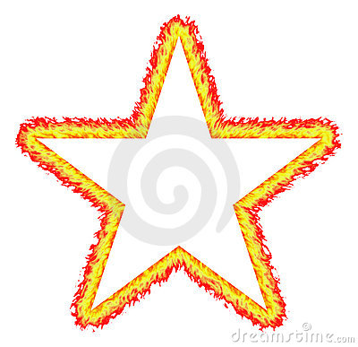 Fiery Outlined Star