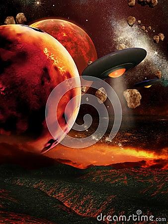 Fiery planets