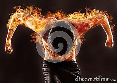 Fiery silhouette