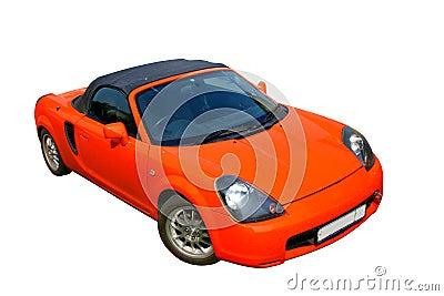 Fiery sports car