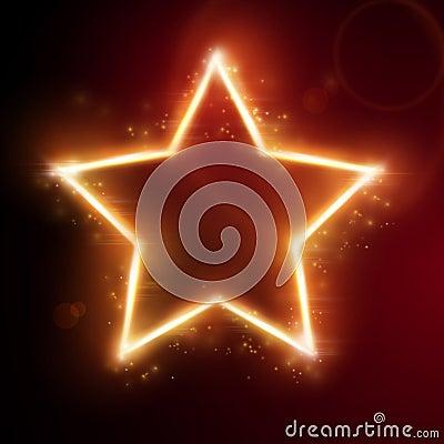 Fiery star frame