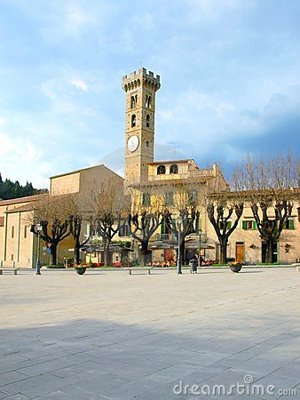 Fiesole square - Tuscany - Italy