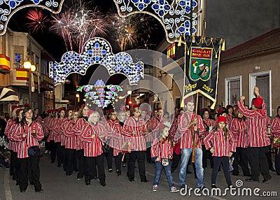 Fiesta española - Blanca de la costa Foto de archivo editorial