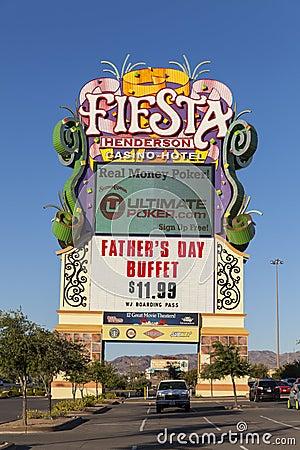 Fiesta Henderson Sign in Las Vegas, NV on June 14, 2013 Editorial Stock Image