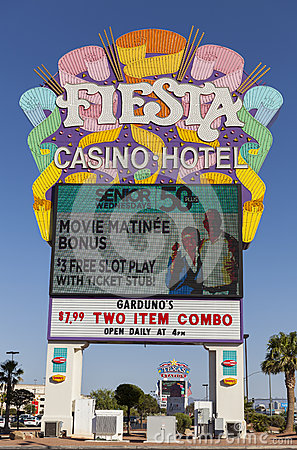 Fiesta Rancho Casino Sign in Las Vegas, NV on May 29, 2013 Editorial Image