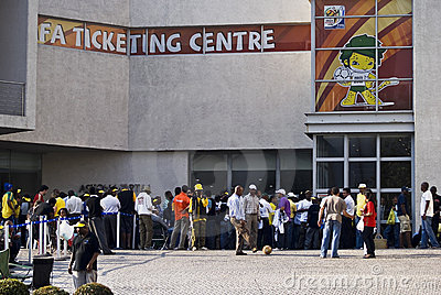 FIFA Ticket Centre, Queue Out The Door Editorial Image