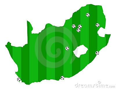 Fifa World Cup 2010 South Africa vector map