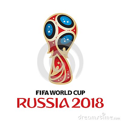 FIFA World Cup Russia 2018 logo on white background. Vector Illustration
