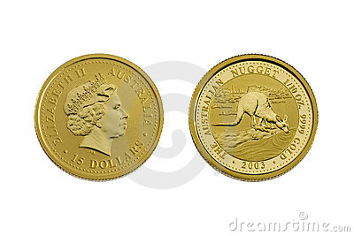 Fifteen australian dollars (gold)