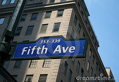 Fifth Avenue kennzeichnen innen New York
