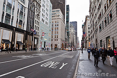 Fifth Avenue New York City Editorial Stock Photo