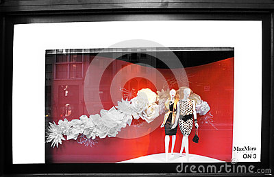 Fifth Avenue retail store window Editorial Photo