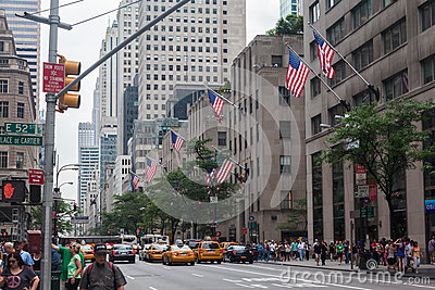 Fifth Avenue Rockefeller Center New York City Editorial Stock Image