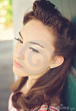 Fifties hair and make-up
