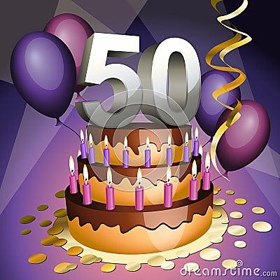 Dessin gateau anniversaire 50 ans