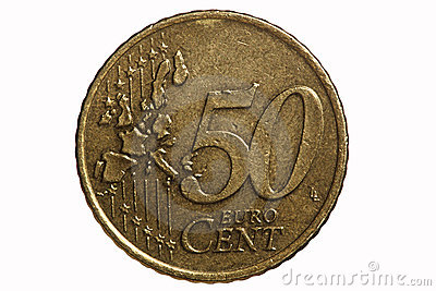 Fifty-cent euro coin