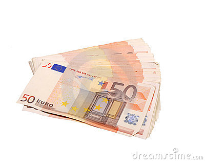 Fifty euro bills