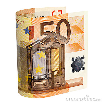 Fifty Euro Note with Path