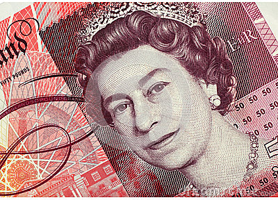 Fifty Pound Note Editorial Stock Image
