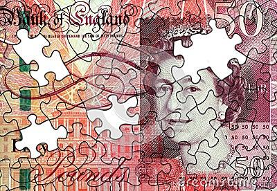 Fifty Pound Note Jigsaw