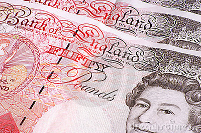 Fifty Pound Notes Editorial Image