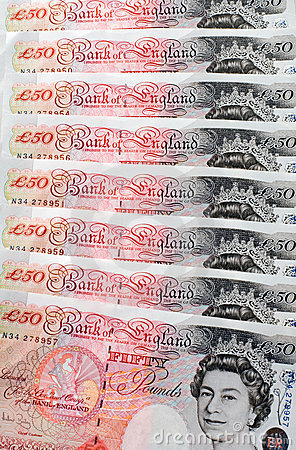 Fifty Pound Notes - Great Britain Editorial Stock Image